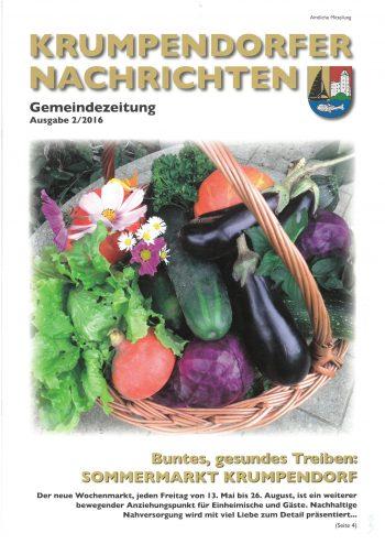 Krumpendorfer Nachrichten Sommer 2016