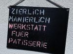 """Patisserie-Werkstatt """"Zierlich Manierlich"""""""