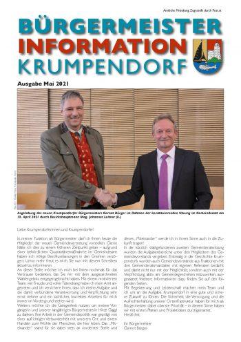 Bürgermeister Information Mai 2021
