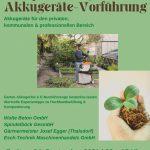 Kompostier- und Gartenakkugeräte-Vorführung